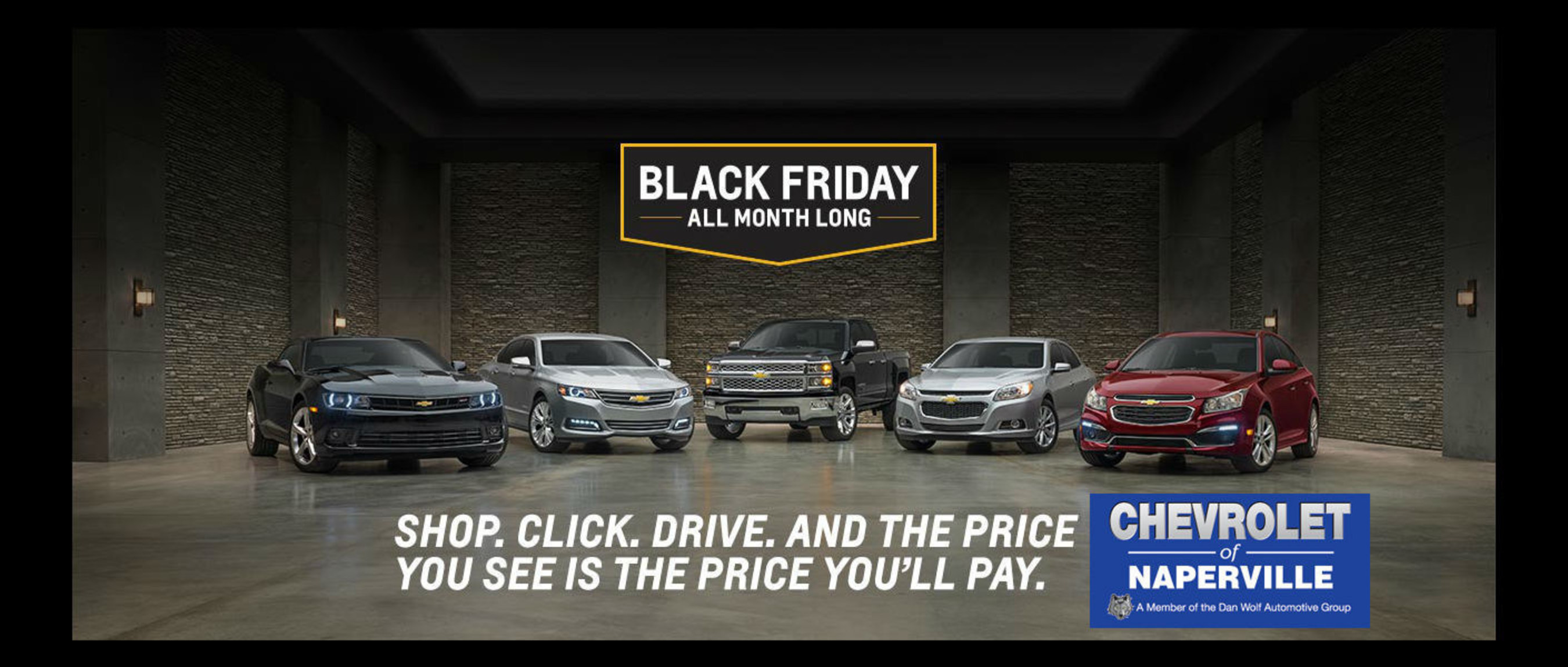 Chevrolet of Naperville offers Black Friday Sale all month