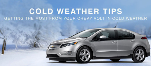 Bill Jacobs Joliet offers Chevy Volt owners tips to help maximize electric driving range during the cold winter months.  (PRNewsFoto/Bill Jacobs Automotive Group)