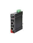 Red Lion's N-Tron series Gigabit 1000-POE Power over Ethernet Plus (PoE ) injectors deliver both power and data over a single Ethernet cable to any PoE or PoE-enabled device, eliminating the need for additional power cables. (PRNewsFoto/Red Lion Controls)