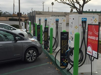 The largest multi-standard public charging station at Lucky is now charging forward!