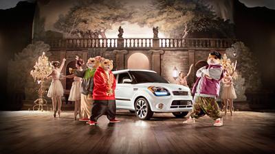 """Kia's iconic hamsters are back in new Soul ad Campaign """"Bringing Down the House.""""  (PRNewsFoto/Kia Motors America)"""