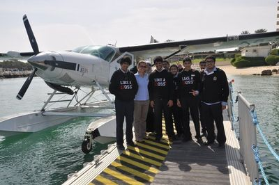 Al Khaleej National School students at the Seawings base in Dubai (PRNewsFoto/Seawings LLC)