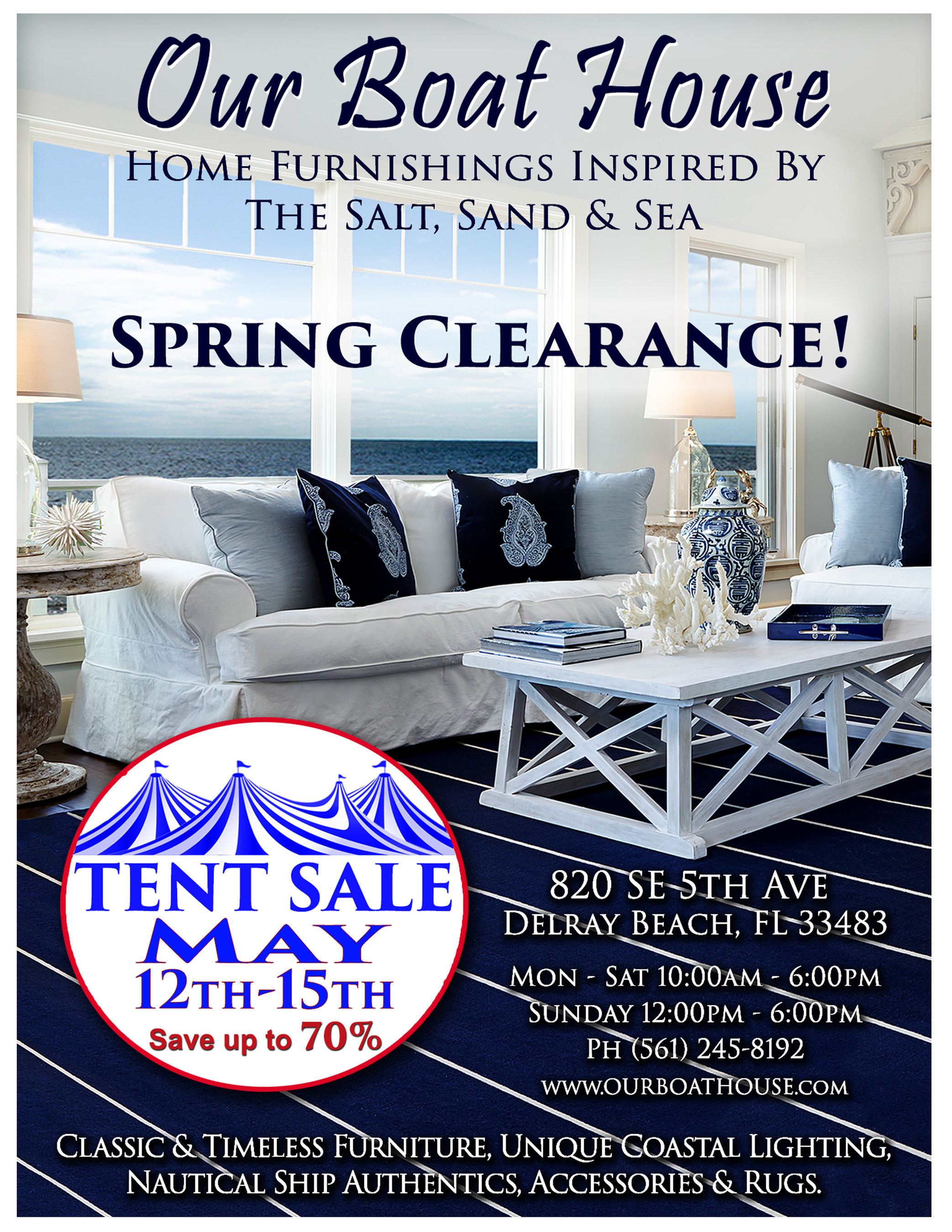 Coastal furniture tent sale our boat house in delray beach fl announces the biggest