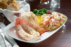 Lobster Lover's Dream: A succulent rock lobster tail and sweet split Maine lobster tail, roasted and served with lobster and shrimp linguini Alfredo.