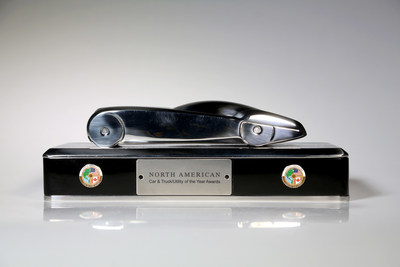The North American Car of the Year trophy was created by retired General Motors design chief Ed Welburn.Credit: Eric Seals/North American Car of the Year