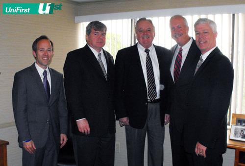 Massachusetts energy and environmental officials visited UniFirst Corp. in Wilmington, MA to learn about the ...