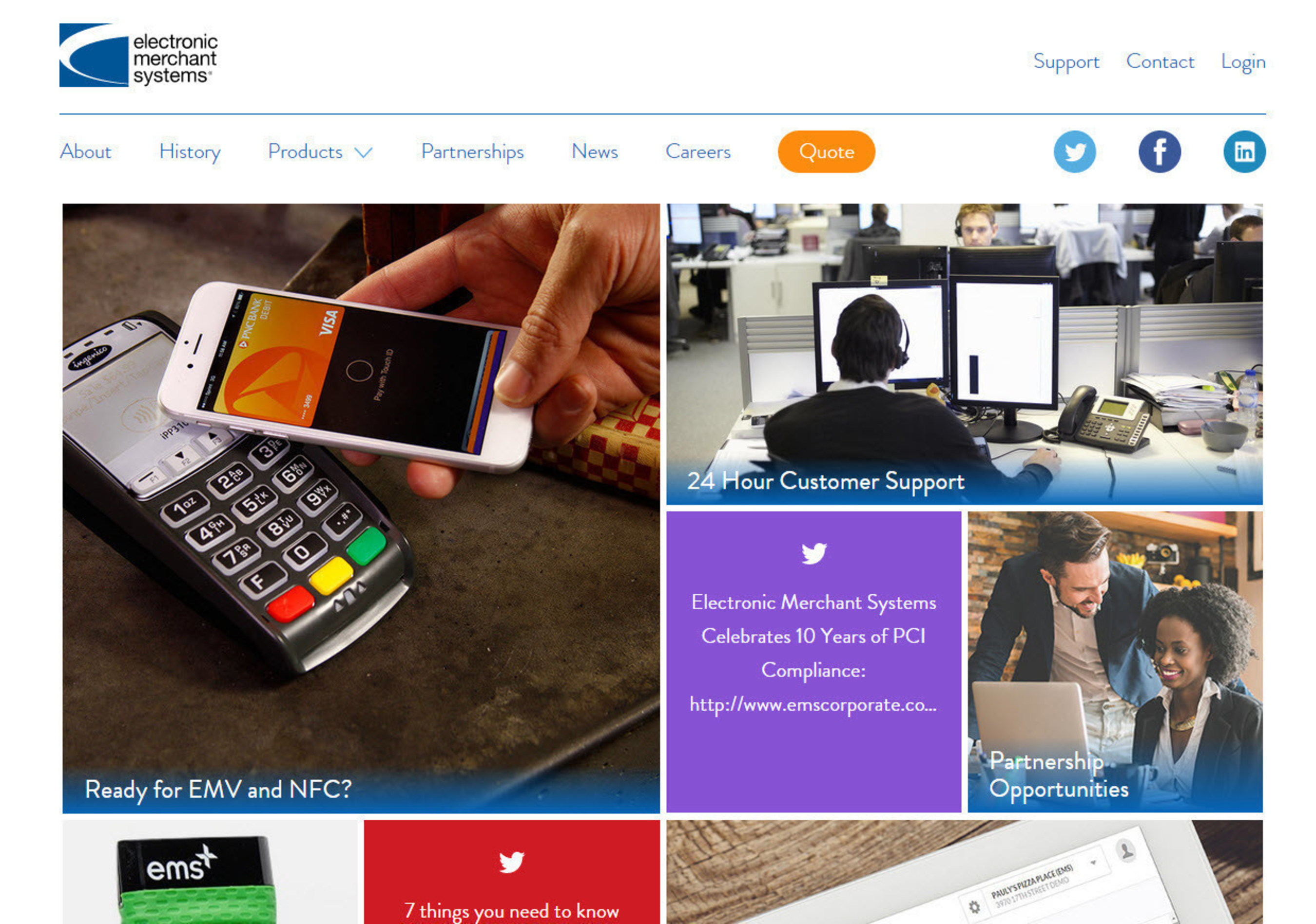 Electronic Merchant Systems Launches New Corporate Website