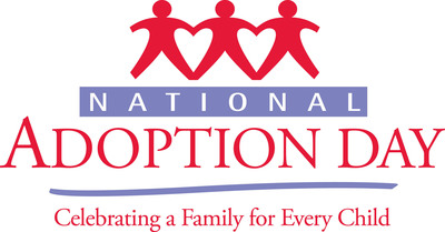 National Adoption Day is a collective national effort to raise awareness of the more than 100,000 children in foster care waiting to find permanent, loving families. For more information, visit nationaladoptionday.org.  (PRNewsFoto/National Adoption Day Coalition)
