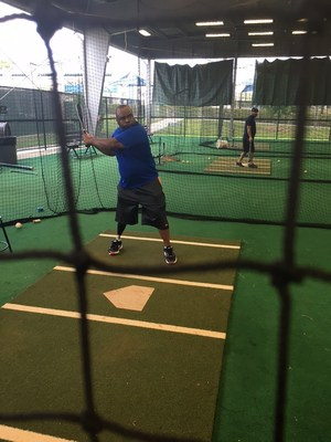 Wounded veterans took swings in the batting cages at Tampa Bay Rays Spring Training.