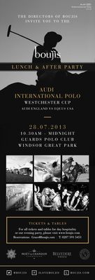boujis After-Party Confirmed for Audi International Polo, Windsor Great Park - 28 July 2013