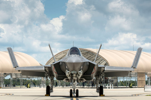 The Navy's first 5th generation F-35C production aircraft at Eglin Air Force Base, Fla.  Photo Credit: Todd  ...
