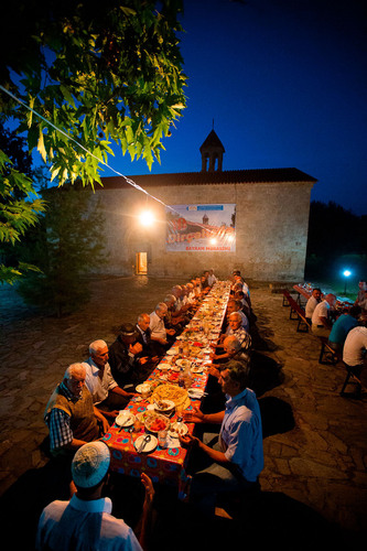"Photograph from exhibition ""Azerbaijan: Land of Tolerance"" by award-winning photojournalist Reza ..."