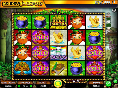 IGT features the Megajackpots game, Isle O' Plenty at ICE.