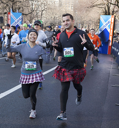 Runners in kilts and painted faces participated in the 11th annual Scotland Run (10K), part of the Scotland ...