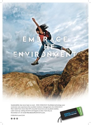 "New ""Embrace the Environment"" advertising campaign promotes COOLMAX(R) EcoMade technology for denim."