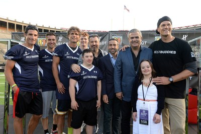 Pro cyclists George Hincapie, Christian Venda Velde,  Best Buddies' Anthony Shriver, Rep. Joe Kennedy III, Hublot's Rick de la Croix, Jean-Francois Sberro, Ricardo Guadalupe, Best Buddies' Tom Brady, and  Participants Chris and Katie