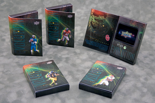 Upper Deck has just released the first-to-market video trading cards, another industry first for the card manufacturer.   (PRNewsFoto/Upper Deck)