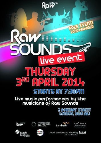 Raw Material Invites You to 2014 Raw Sounds Spring Event on April 3, for Free Live Music, Poetry and Food