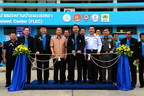 Dr.Theerapat Prayunrasiddhi, (5th from left) Permanent Secretary for Agriculture and Cooperatives, presided over the opening ceremony of Songkhla Fishermen's Life Enhancement Centre - Thailand's first showcase in countering against human trafficking and illegal labour at Songkhla fishery port. Founder organizations namely Fish Marketing Organization, Department of Labour Protection and Welfare, Family Planning Association of Thailand, Stella Maris Centre Songkhla and Charoen Pokphand Foods Plc.