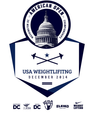 USA Weightlifting American Open logo. (PRNewsFoto/Destination DC) (PRNewsFoto/DESTINATION DC)