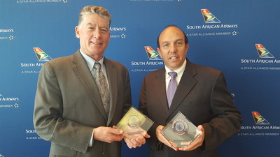 Pictured (L to R): Jerry Allison, Group Publisher, Business Traveler USA; Marc Cavaliere, Head of the Americas, South African Airways