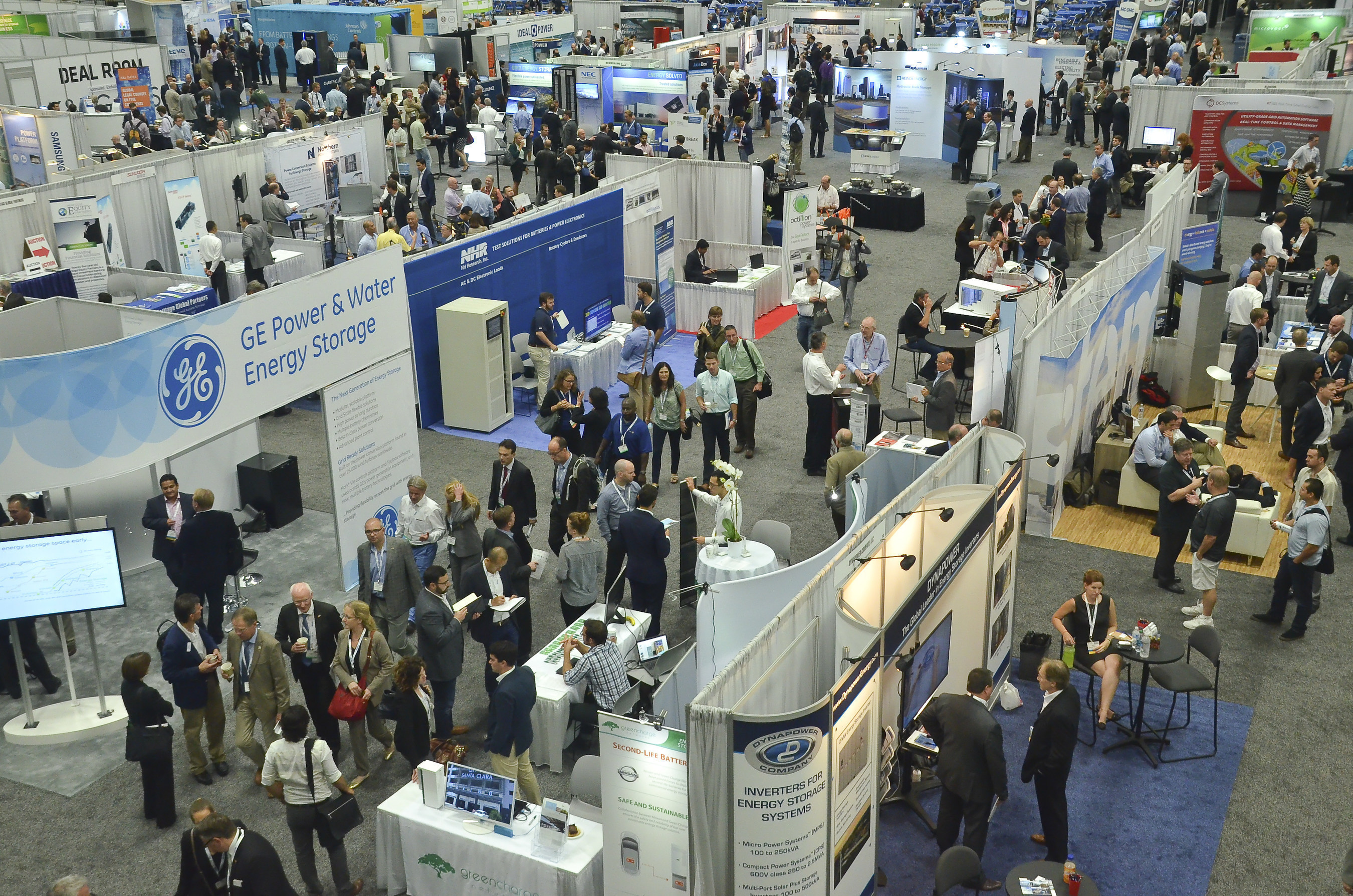 Expo floor at Energy Storage North America in San Diego California on October 14, 2015