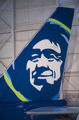 The iconic Eskimo prominently featured on the tail of the plane has been Alaska's brand beacon since 1972. His profile has been modernized and new vibrant colors added around his parka trim.