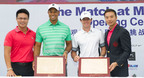 Tiger Woods and Rory McIlroy cast handprints and join parade of stars at Mission Hills Haikou, China.  (PRNewsFoto/Mission Hills China)