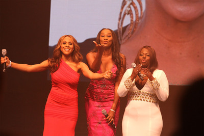 Recording artists Deborah Cox, Yolanda Adams and Angie Stone performed a special tribute to legendary singer -- and McDonald's(R)  365Black(R)  Awards honoree -- Gladys Knight during the 10th annual ceremony, held at the New Orleans Theater, on July 6. The McDonald's 365Black Awards are given annually to salute outstanding individuals who are committed to making positive contributions that strengthen the African-American community.  (PRNewsFoto/McDonald's USA, LLC)