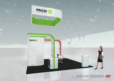 Pricer booth at NRF Big Show 2016