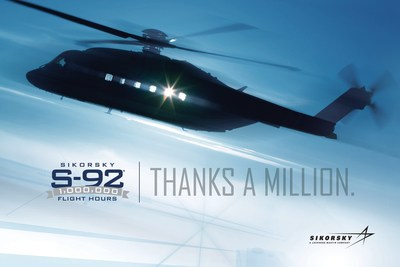 In May, the global fleet of more than 275 Sikorsky S-92(R) helicopters surpassed one million flight hours. Sikorsky has launched its Thanks a Million campaign to recognize customers, operators, suppliers, and employees for their contributions to this major milestone.