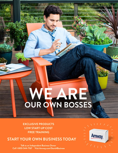 Start your own business today. Visit Amway.com/StartABusiness.  (PRNewsFoto/Amway)