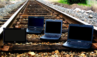 DURABOOK rugged computers are built to operate in the railroad industry's work environments and improve productivity