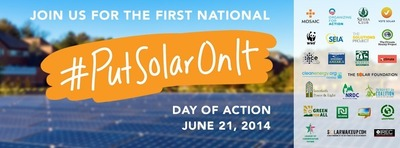 30 organizations join together to launch a national solar day of action (PRNewsFoto/Mosaic)