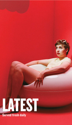 """Standard: HBO comedy """"Girls"""" creator and star, Lena Dunham featured in Playboy for iPhone's The Articles section.  (PRNewsFoto/Playboy Enterprises, Inc.)"""