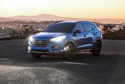 """Hyundai Tucson Debuts New """"NIGHT"""" Model At 2016 Sema Show"""
