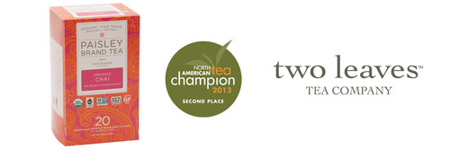 Paisley Brand Tea(TM) Organic Chai from two leaves tea company(TM). (PRNewsFoto/two leaves tea company) ...