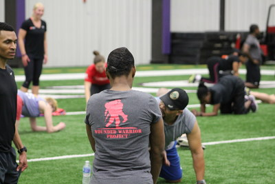 Wounded Warrior Project Alumni getting their sweat on at the Baltimore Ravens' Under Armour Performance Center, as part of WWP's Physical Health and Wellness (PH&W) program.