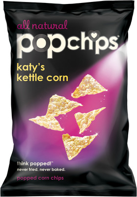 katy perry and popchips unveil katy's kettle corn, the popstar's signature flavor launching nationwide at Target.  (PRNewsFoto/popchips)