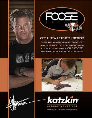 Katzkin/Chip Foose Alliance Brings Interior Design Synergy to Auto Enthusiasts. (PRNewsFoto/Katzkin Leather, Inc.)