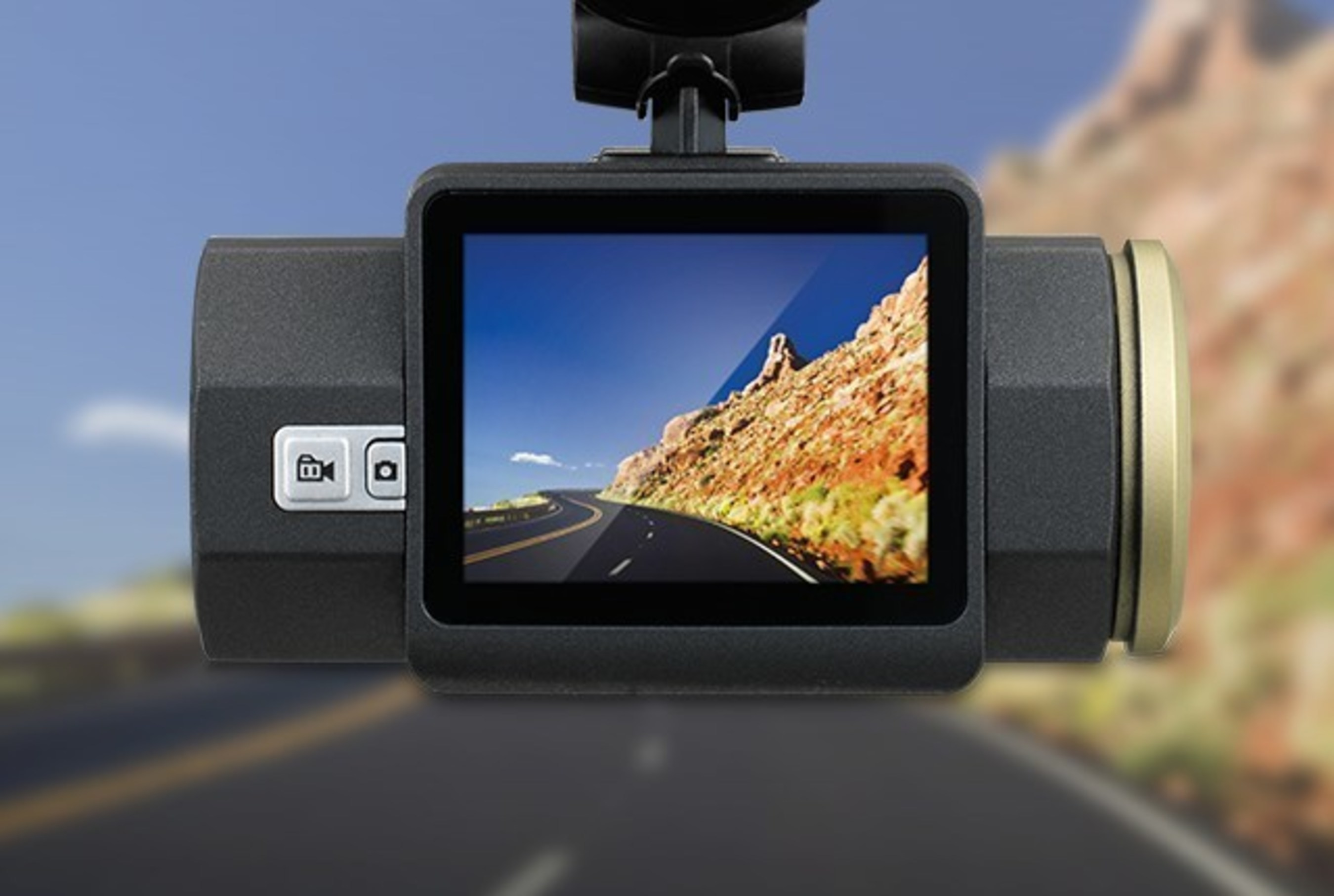with Video and Lane Departure and Collision Warnings Rand Mcnally Dash Cam 300 Super HD Camera 2560 x 1080