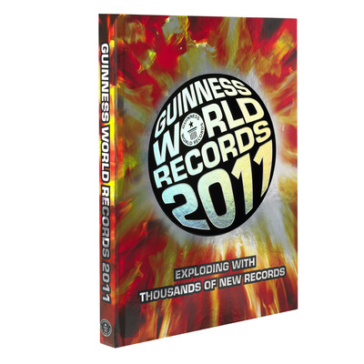 The Guinness World Records 2011 book is available now for $28.95.  (PRNewsFoto/Guinness World Records)