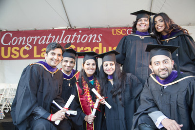 International students graduate with an LL.M. degree at USC Gould School of Law.