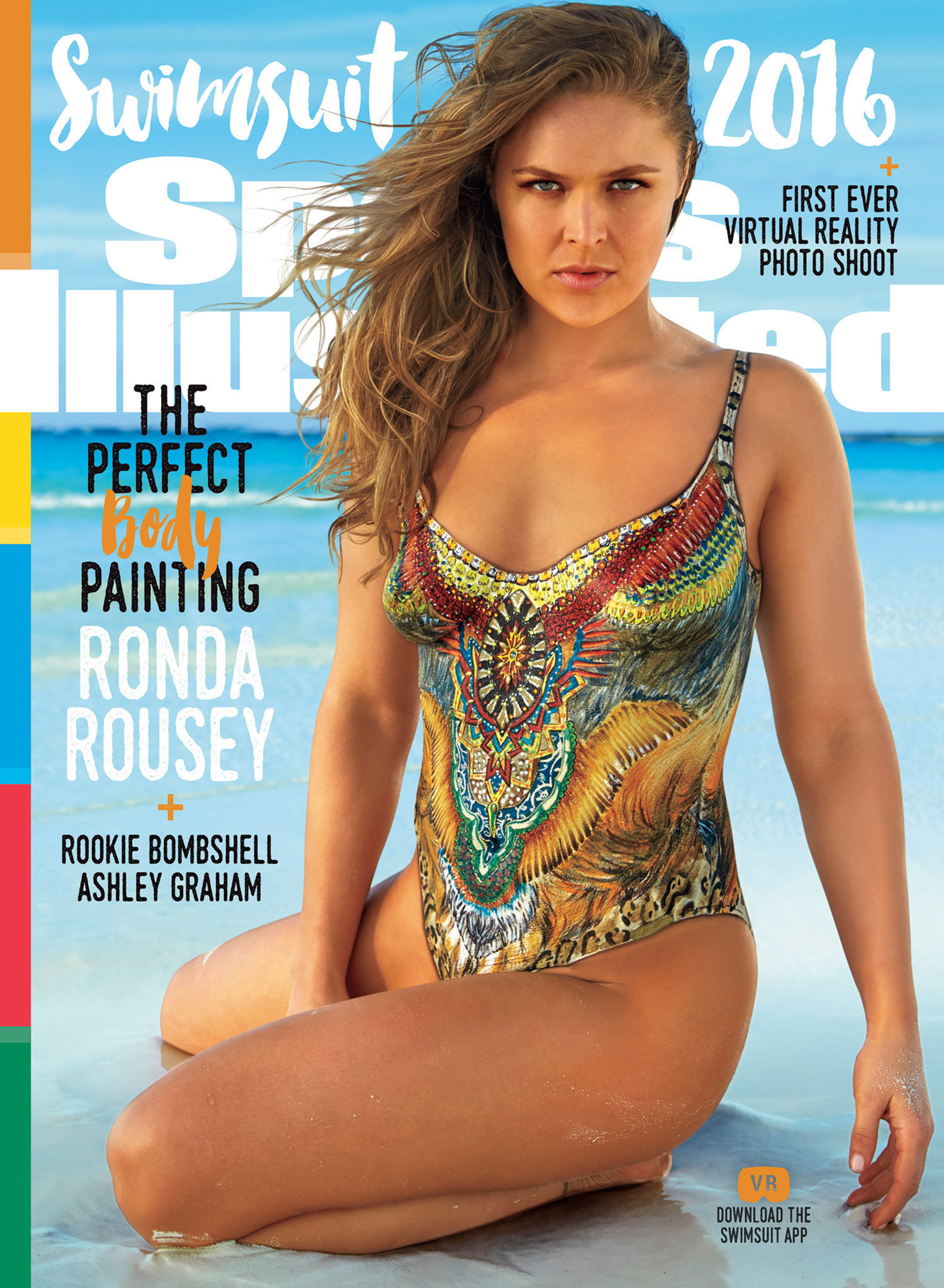 Hailey Clauson, Ashley Graham and Ronda Rousey Unveiled on TNT Special! A Sports Illustrated Swimsuit First! Three Covers; Three Cover Models