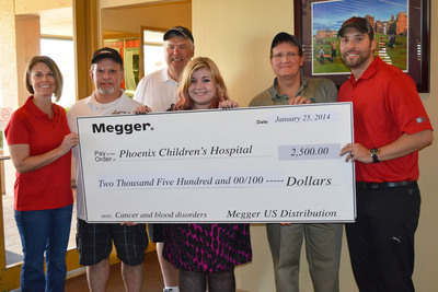 Megger Raises Close to $4,000 for Phoenix Children's Hospital Foundation. (PRNewsFoto/Megger)