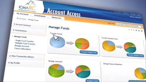 ICMA-RC launches new features to its participant-based online platform for managing more than a million public sector retirement accounts. www.icmarc.org. (PRNewsFoto/ICMA-RC) (PRNewsFoto/ICMA-RC)