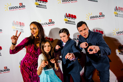 "Celebrities including social media sensations The Eh Bee Family, pictured, gathered Jan. 28 at LEGOLAND(R) Florida Resort in Winter Haven, Fla., for the world premiere of ""The LEGO(R) Movie(TM) 4D A New Adventure."" A Hollywood-style gala built for kids celebrated the eagerly awaited debut of the brand-new attraction, which combines 3D computer animation, ""4D"" effects such as wind, water and fog, and the same sly humor that made the movie a worldwide blockbuster. The 12 ½-minute film opened to guests Jan. 29 and plays multiple times per day in the Florida theme park's Wells Fargo Fun Town Theater."