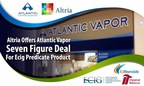 Altria offered Atlantic Vapor Seven Figure Deal For Ecig Predicate Product to gain control over Ecig industry but Atlantic Vapor Declined the offer. Currently Atlantic Vapor is accepting other offers from tobacco giants Imperial Tobacco, RJ Reynolds, and Electronic Cigarettes International Group LTD