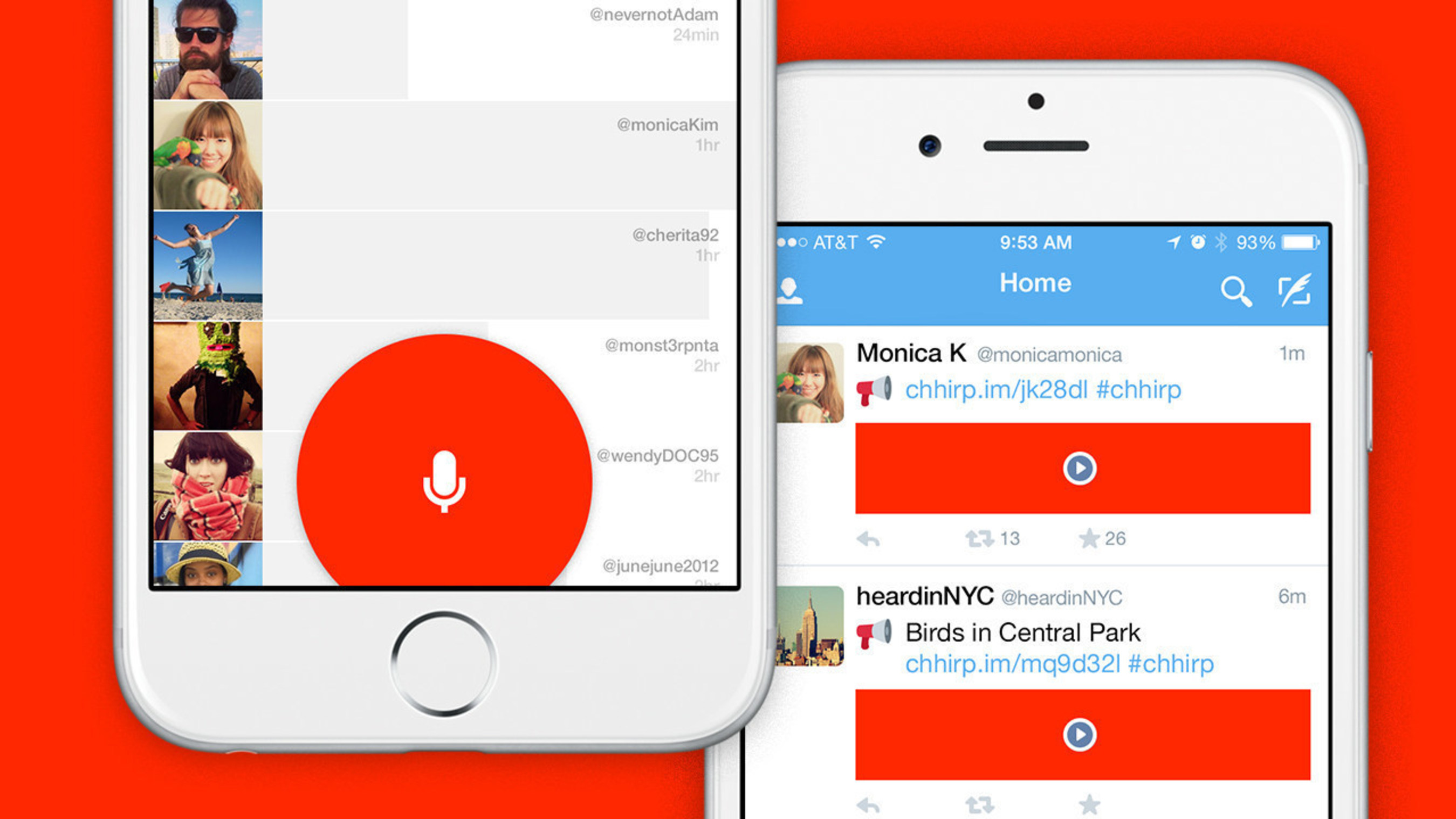Chhirp is a free iPhone app that works as a mic for Twitter.
