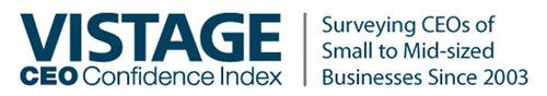 Vistage CEO Confidence Index. (PRNewsFoto/Vistage International) (PRNewsFoto/VISTAGE INTERNATIONAL)
